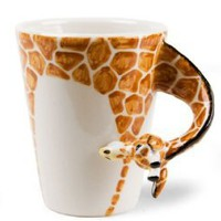 Giraffe Handmade Coffee Mug (10cm x 8cm): Kitchen &amp; Dining