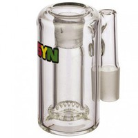 SYN Glass Circ Ash Catcher with Recessed Joint - 18.8mm - 90 Degree - Rasta Label - Grasscity.com