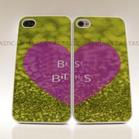2 cases for iphone 4&5 Best friends (bitches) one for iphone 4 one for iphone 5 case cover
