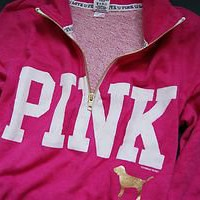 Victoria's Secret PINK half-zip sweatshirt pink XS,S,M NEW