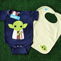 Sewing Wars  Baby Youda Infant Bodysuit and Bib by micielomicielo