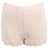 Nude Lace Short - Shorts  - Clothing
