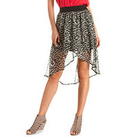 High Waisted Chiffon Hi-Low Skirt: Charlotte Russe