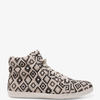 Southwestern Print Canvas Sneakers | FOREVER21 - 2040375484
