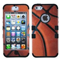 TUFF Case Hybrid Phone Protector Sports Collection Basketball Design for Apple iPhone 5: Cell Phones & Accessories