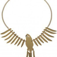 Parakeet Medium Necklace - gold mirror - Spring/Summer 2012 - By collection - By product - Shop