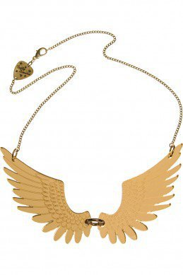 Pegasus Large Necklace - gold mirror