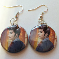 The 10th Doctor - Doctor Who Upcycled Earrings