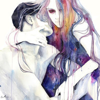 wakeful Stretched Canvas by Agnes-cecile | Society6