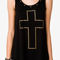 Pyramid Studded Cross Tank | FOREVER 21 - 2042461450