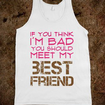 Meet My Best Friend-Unisex White Tank