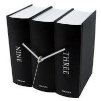 BOOK CLOCK - BLACK