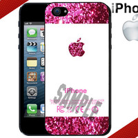 iPhone Case - Pink Glitter Apple iPhone Case - iPhone 4 Case or iPhone 5 Case