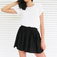 Skirt High Waist Mini Black