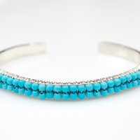 Turquoise Bangle Bracelet, Turquoise Bracelet, Blue Bracelet, Silver Bangle Bracelet