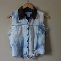 Acid Washed Rave Concert Denim Cut Off by PandaChunks on Etsy