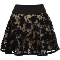 PRODIGA Flower Beaded Skirt