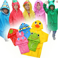 New Kid Cute Baby Funny Raincoat Children Cartoon Rain Coat Rainwear Waterproof
