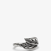 Etched Leaf Ring