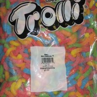 Trolli Gummi Candy Small Sour Brite Crawlers 5 Pound Value Bag
