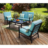 Walmart: Mainstays Rockview 4-Piece Patio Conversation Set, Seats 4