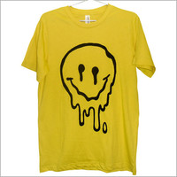 Sick & Melted sMiLeY fAcE TShirt UNISEX by killercondoapparel