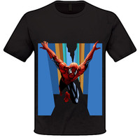 Original Design! NEW Amazing Spiderman Costume T-shirt Superhero Cosplay Top Tee