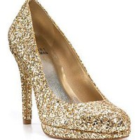 Stuart Weitzman &quot;Swoon&quot; Glitter Evening Pumps - Bloomingdales.com