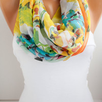 NEW- Silky Chiffon Loop infinity Scarf