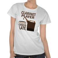 Clarinet Player (Funny) Chocolate T-shirts from Zazzle.com