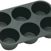 Lodge Logic, Seasoned Cast Iron Cookware Muffin/Cornbread Pan