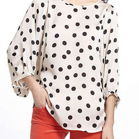 Anthropologie - Dotty Monochrome Blouse