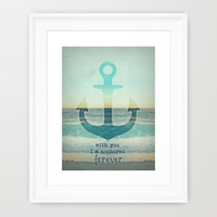 *** VINTAGE ANCHOR ***  Framed Art Print by Mnika  Strigel