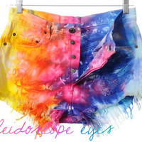 Vintage Levis 501 High Waist Rainbow by ShopKaleidoscopeEyes