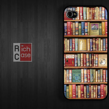 Bookshelf Case iPhone 4 Case iPhone 4s Case iPhone 5 Case idea case book library