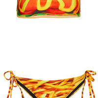 Multi Hot Dog Bandeau Bikini - Swimwear  - Clothing