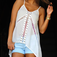 Feel The Breeze Tank: White | Hope&#x27;s