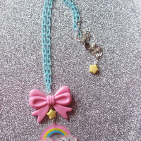 Sweet Skies - Pastel Happy Rainbow Charm Necklace