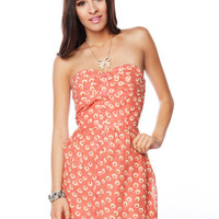 Papaya Clothing Online :: PLEATED FLOWER PRINT TUBE DRESS