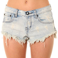 One Teaspoon Shorts Bonitas Distressed Denim Cut Offs in Antique