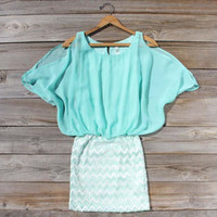 The Lily Dress in Mint, Sweet Women's Bohemian Clothing