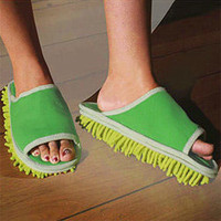 Walk 'n' Clean Mop Slippers | Clean your floors without raising a finger using these shoe mops! - LatestBuy Australia