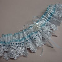 Lace garter, lace trim garter, Bridal garter