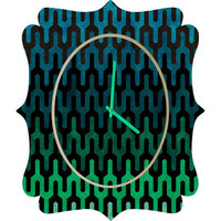 DENY Designs Home Accessories | Arcturus Cool 1 Quatrefoil Clock