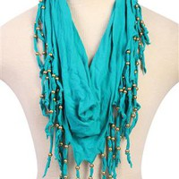 infinity scarf with fringe and studs - 1000050292 - debshops.com