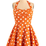Traveling Cupcake Truck Dress in Orange | Mod Retro Vintage Dresses | ModCloth.com