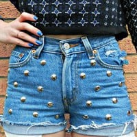 Cute Studded Denim Shorts from StuddedSouls