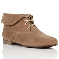 Taupe Ankle Flat Booties