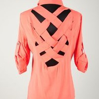 Pink Slip Boutique   Criss Cross Open Back