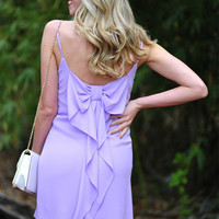 EVERLY: Forever Loving Bows Dress: Lilac | Hope's